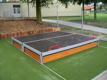 Sandpit with a movable cover 2x2 m PK-220D-10