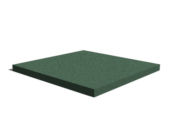 Rubber pavement 500x500x30 mm (continuous, green)