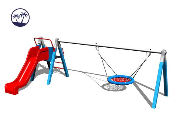 Chain Swing Nest with slide RH180KB-Q - Blue (1m) (Coastal region)