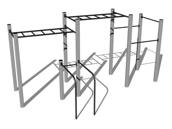 Street workout set WS015SD - silver