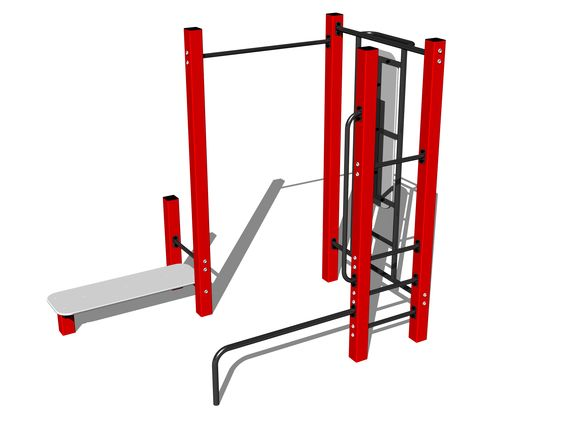 Street workout set WS021RD - red