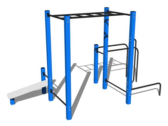 Street workout set WS024BD - blue