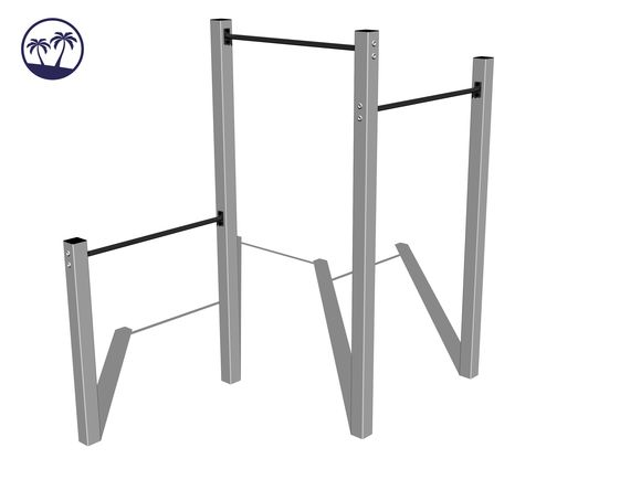 Street workout set WS003SD-Q - silver (Coastal region)