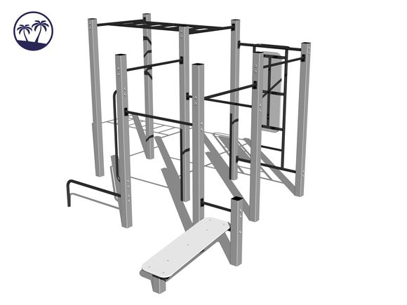 Street workout set WS020SD-Q - silver (Coastal region)