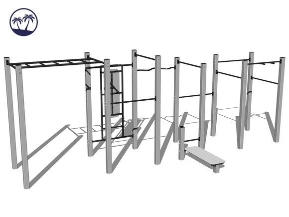 Street workout set WS022SD-Q - silver (Coastal region)