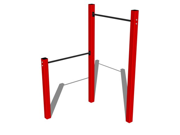Street workout set WS001RD - red