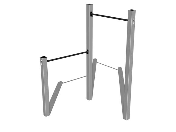 Street workout set WS001SD - silver