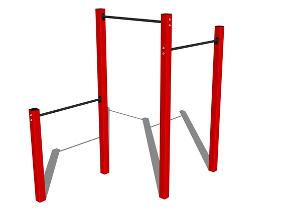 Street workout set WS003RD - red