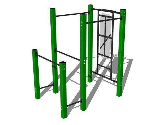 Street workout set WS008GD - green