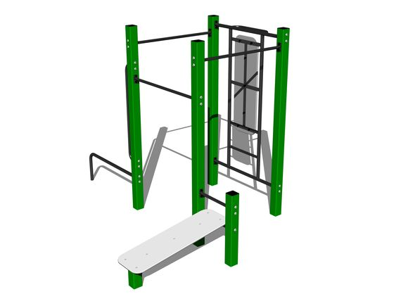 Street workout set WS014GD - green