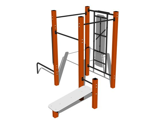 Street workout set WS014OD - orange