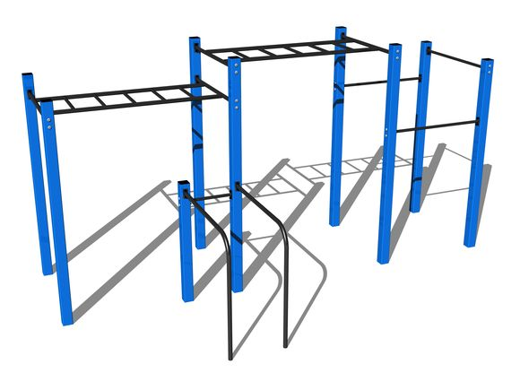 Street workout set WS015BD - blue