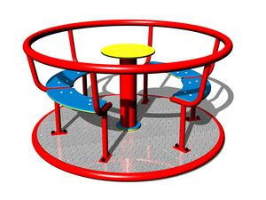 Merry-go-round with seats KO140K (mean 1,4 m) - metal