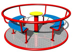 Merry-go-round with seats KO180K (mean 1,8 m) - metal