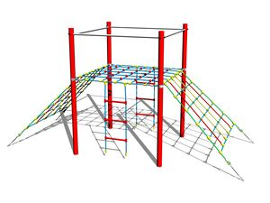 Double-sided rope ramp LP140K - metal (f.h. 1,5 m)