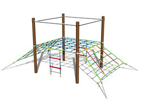 Double-sided rope ramp LP140K - metal (f.h. 1 m)
