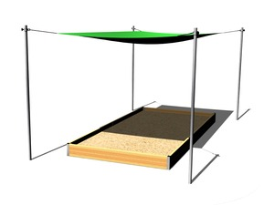 Shade cover for sandpit 4x2 m (adjustable) ZP421