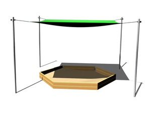 Shade cover for hexagonal sandpit (adjustable) ZP601